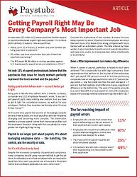 Getting Payroll Right Guide