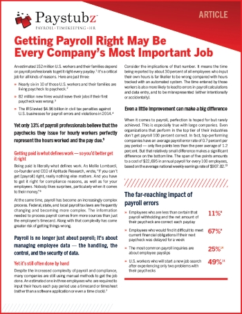 Reducing Payroll Errors cover