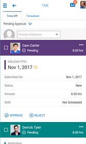 Time Off Policy Management Screenshot
