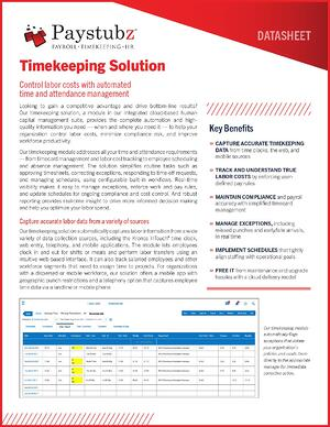 TLM Timekeeping Solutions for SD ND MT