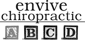envive chiropractic logo grayscale