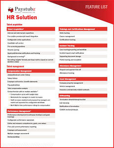 HR Application Feature List cover