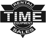 time equipment rental and sales logo - grayscale